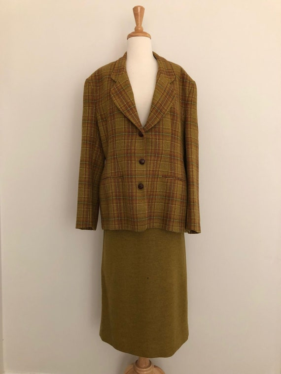 Vintage Laura Ashley Wool Suit - Skirt and Jacket