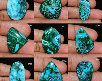 Top Amazing Quality Chrysocolla stone Cabochon Loose stone Gemstone  for jewelry stone 71 Ct{ 41 X 27 } mm #328