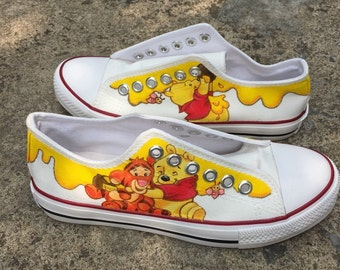 c9cf2a0dfa57 Winnie the Pooh paint sneakers