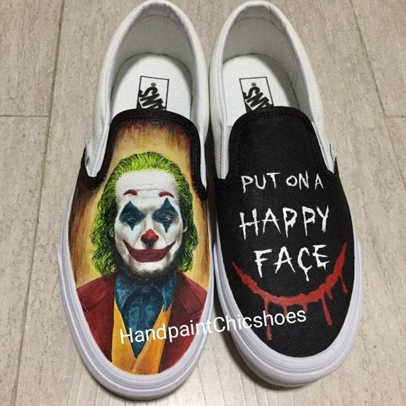 Joker Vans Joker retrato Joker pintado zapatos Joker 2019   Etsy