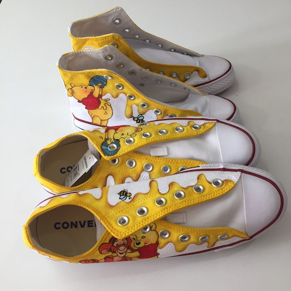 Pooh paint shoesPooh and Tigger low cut
