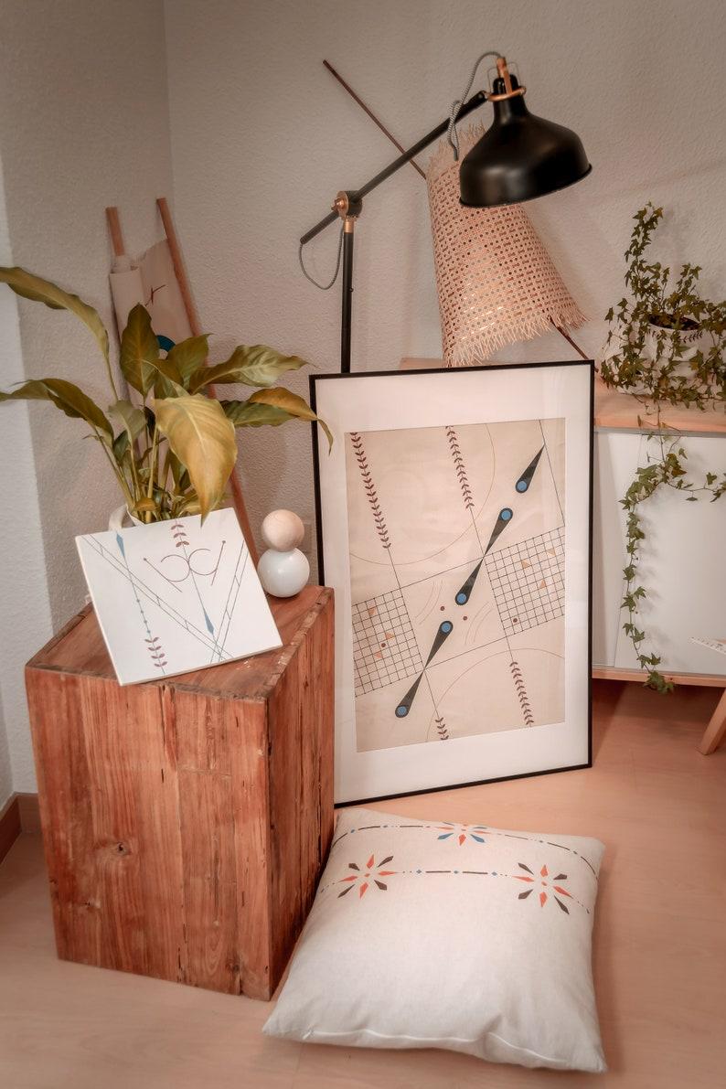 I\u03a9Handmade Original PaintingAbstract ArtInterior StylingWall HangingsGeometrical PaintingCanvasContemporary ArtDecorationGreek Art