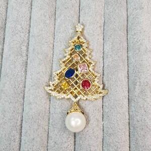 Christmas tree brooch spinner brooch for her
