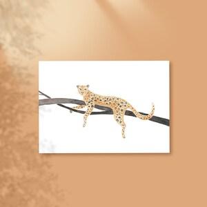 Amur Leopard in Indigo in Brunschwig /& Fils