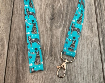 Cute dogs badge holder DOGS fabric badge holder Dogs lanyard Colorful dogs badge holder Cute dogs lanyard Fabric lanyard