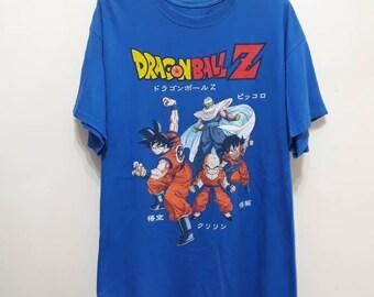 9f944bff DRAGON BALL Z T-Shirt Japanese Animation Movie Film Anime Manga Son Goku  Gohan Krillin Piccolo Promo Tops Tee Merchandise Sz xL
