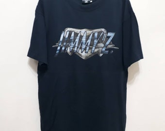 945992de Vintage JIMMY'Z T-Shirt Spellout Tee Hawaiian Wear Surfboard Surf Surfers  Waves Jimmy Z Authentic Sz L
