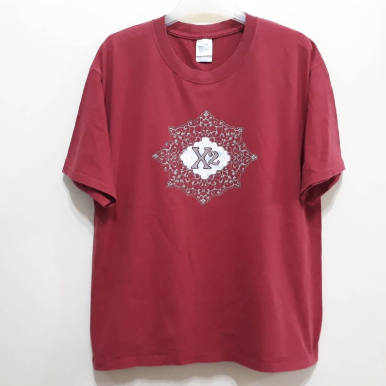 Vtg X2 T-Shirt Matt Abts Johnny Neel Promo Experimental Duo Tour Concert Gigs Usa Rock Band Merchandise Tops Tee Sz L