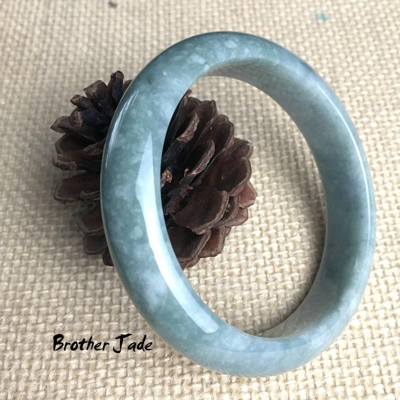 Guatemala 58mm size B05 Free Shipping AAA Natural jadeite bangle  Jade bangle gemstone bracelets A goods-good  65.1g