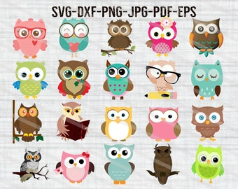 Owl clipart | Etsy