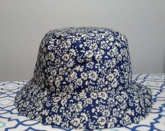 193a201a1fd Bucket hat blue floral print 90s style hat