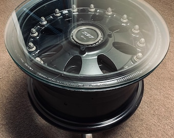Admirable Wheel Coffee Table Etsy Gamerscity Chair Design For Home Gamerscityorg