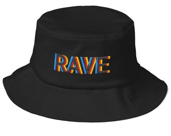 c8fd5584981d8 Old School Rave Embroidery Bucket Hat