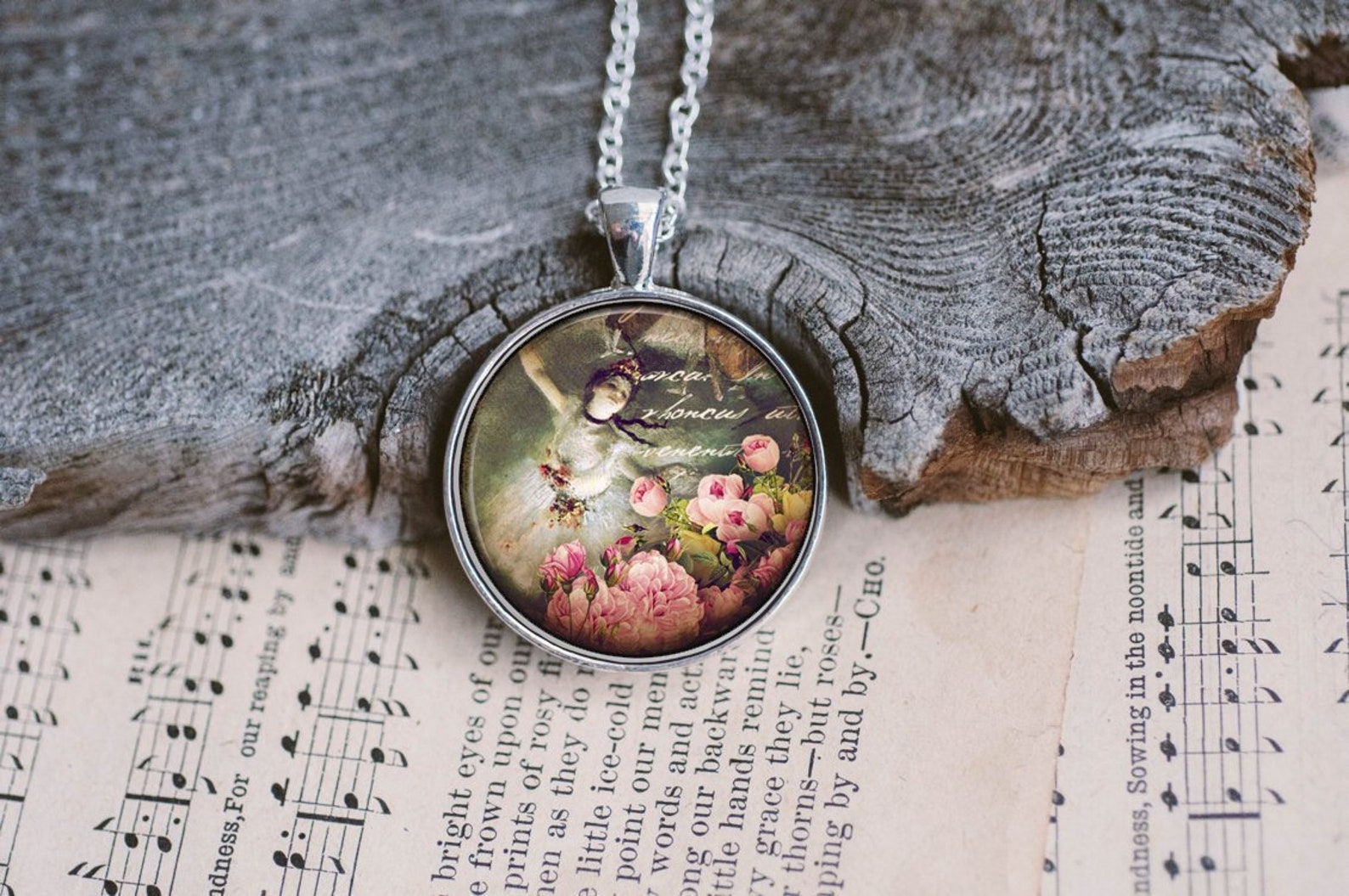 degas ballet, dancer gifts, ballerina necklace, dance teacher gifts, ballet necklace, little ballerina