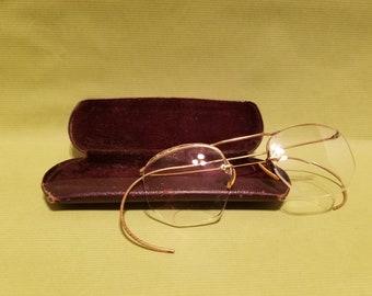 a85700cc013 Antique 10K gold filled eyeglasses with original case