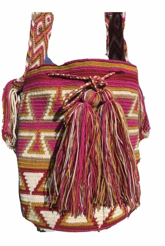 Native Designs Traditional Wayuu Mochila Colombian Shoulder Bag Wayuu BagSmall Size