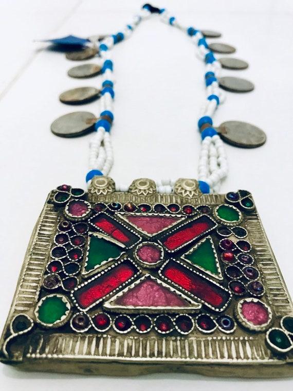 Ethnic Vintage Kuchi Afghan Banjara  Afghan Beaded