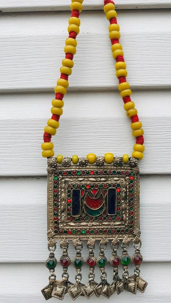 Ethnic Vintage Kuchi Afghan Banjara  Afghan Beade… - image 9