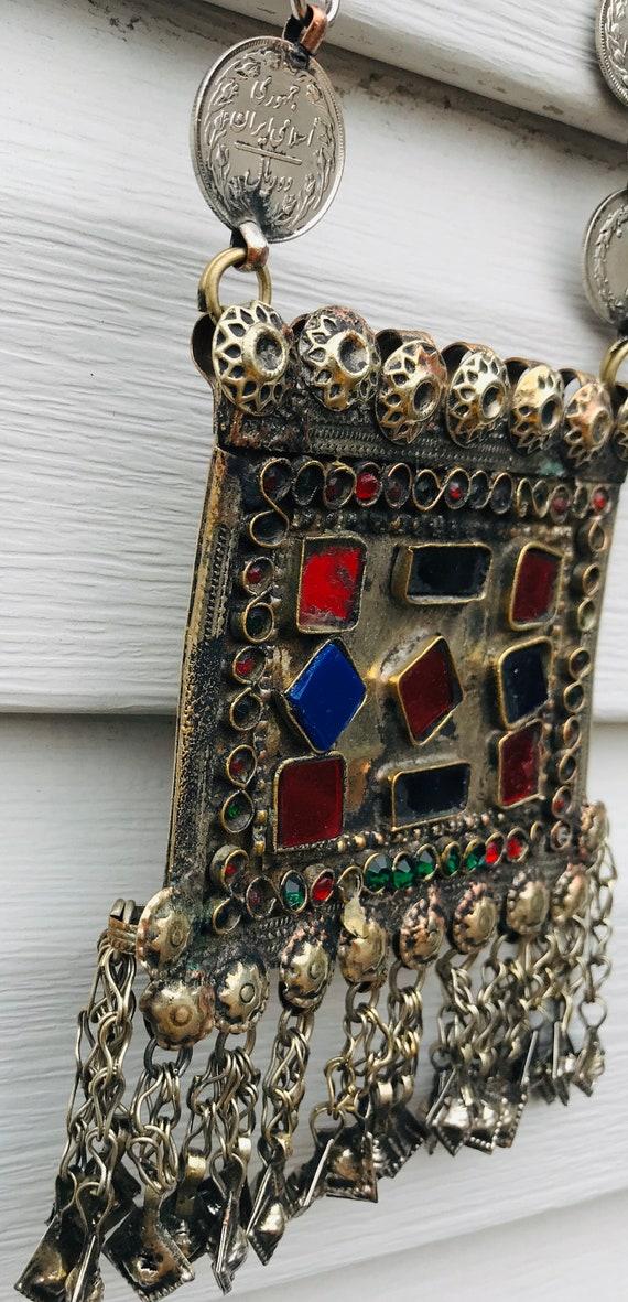 Ethnic Vintage Kuchi Afghan Banjara  Afghan Beade… - image 8