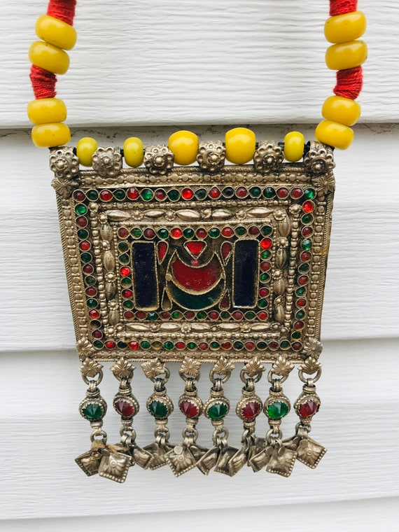 Ethnic Vintage Kuchi Afghan Banjara  Afghan Beade… - image 5