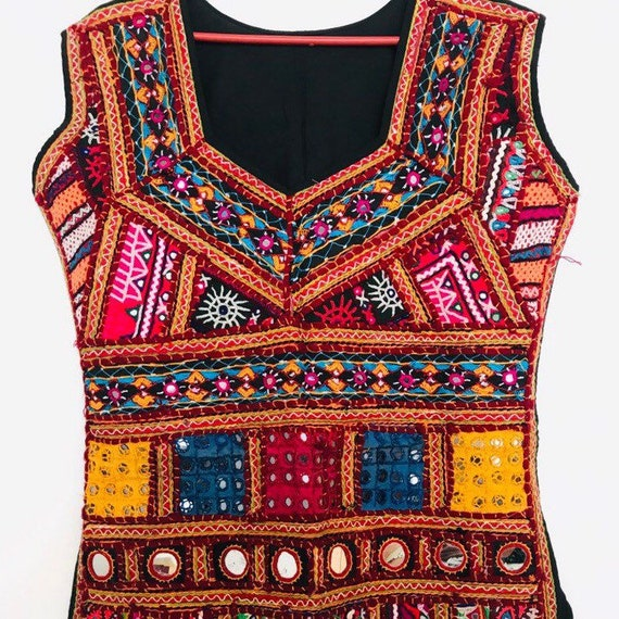 Women's Kuchi Banjara Ethnic Embroidery Mirrors Ha