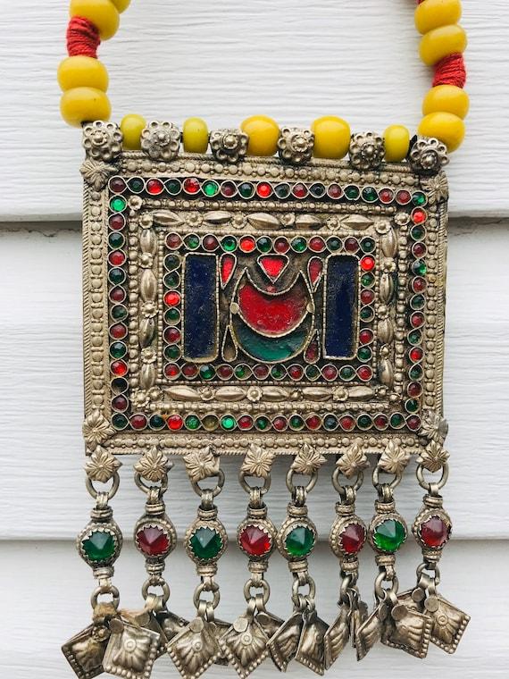 Ethnic Vintage Kuchi Afghan Banjara  Afghan Beade… - image 1