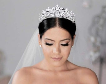 RENEE Swarovski Bridal Tiara, Wedding Crown, Bridal Tiara, Swarovski Crystals Tiara, Wedding Headpiece, Gorgeous Wedding Crown