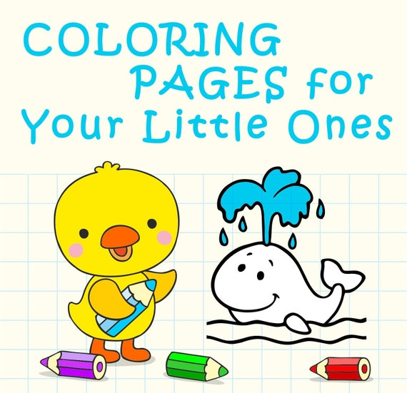 Coloring Pages Download Small Children Coloring PagesHome Etsy