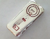 150g Silver 9999 hand poured silver bar CCCP USSR communist russian flag. Silver bar 99.99 . Better than 1oz silver bar about 5oz