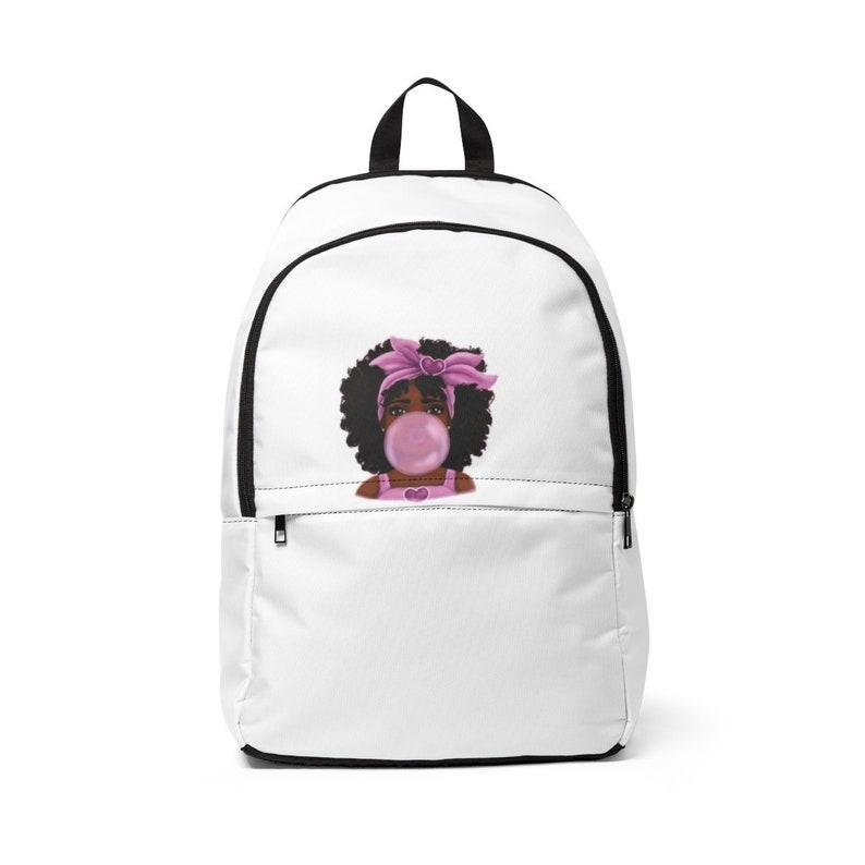 Black Girl Magic Backpack Unisex Fabric Backpack