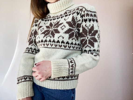 Vintage Knitted Sweater - Vintage Wool Knitwear -