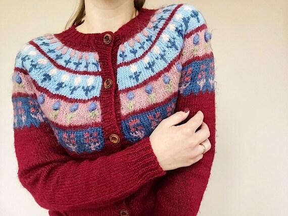 Icelandic Knitwear - Pure Wool Cardigan - Retro Ca