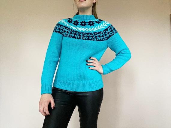 Vintage Knitted Sweater - Vintage Wool Knitwear -