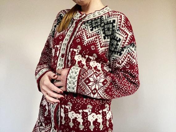 Vintage Nordic Knitwear - Pure Wool Cardigan - Ret