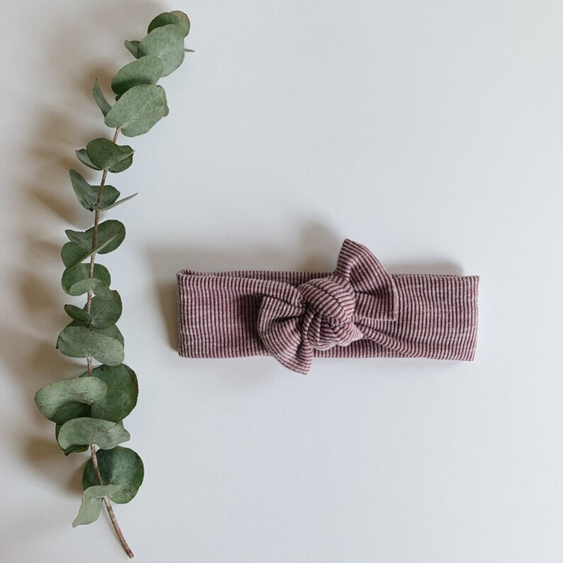 infant toddler baby bow newborn Iris tie-on headwrap headband