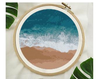 Low Tide Beach Cross Stitch Pattern