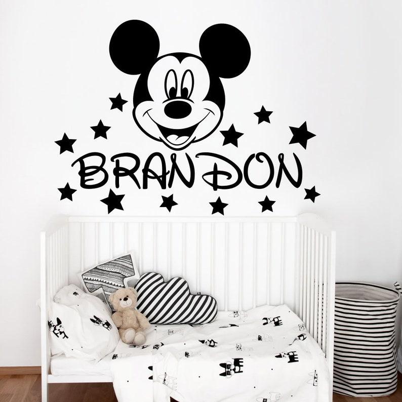 Junge Name Wandtattoo, Mickey Maus Aufkleber, Kinderzimmer Dekor, Mickey  Maus Aufkleber, junge Zimmer Dekor, Mickey Maus Ohren Aufkleber, ...