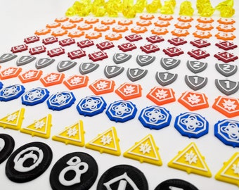 Keyforge: Set 129x tokens (also compatible with Worlds in Collision)