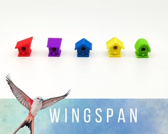 Wingspan: Set 40x cottages, compatible with Europe expansion
