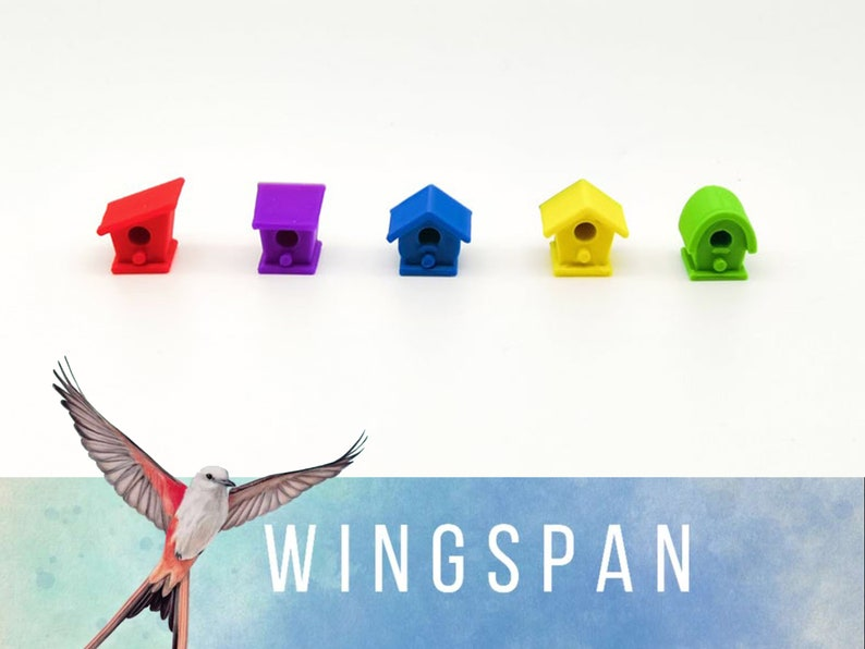 Wingspan: Set 40x cottages compatible with Europe expansion image 1