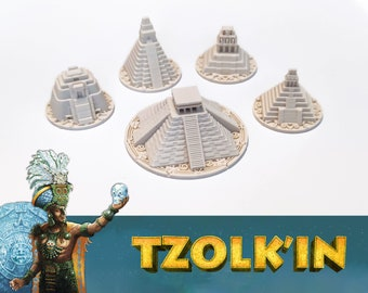 Tzolk'in: 5x Temples Update Set (Compatible with Tribes and Prophecies)