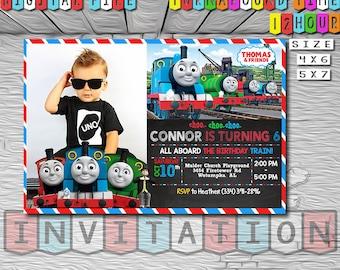 Thomas The Train Invitation Birthday 06