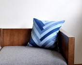 Denim Chevron Pillow Cover