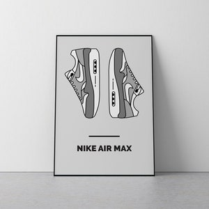 Nike Air Max 1/97 Sean Wotherspoon Trainer Sneaker Art   Etsy