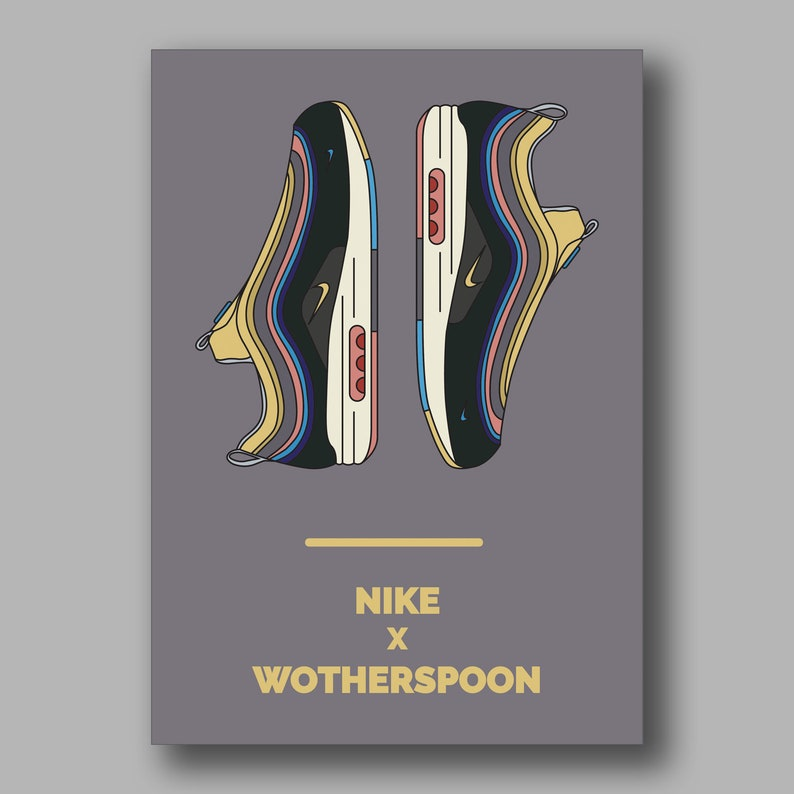 Nike Air Max 197 Sean Wotherspoon Trainer Sneaker Art Illustration Poster