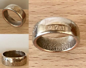 1973 coin ring | Etsy