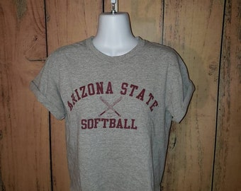 94004d55d Arizona State Softball Graphic Tee Crop Top (Vintage)