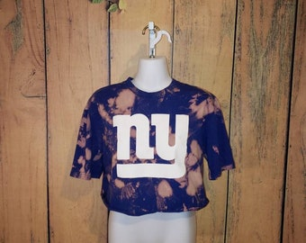 New York Giants Graphic Tee Crop Top (Vintage) 5e8a6d8cc