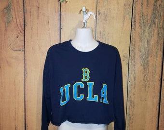 175d11e96ea UCLA Bruins Graphic Tee Long Sleeve Crop Top (Vintage)