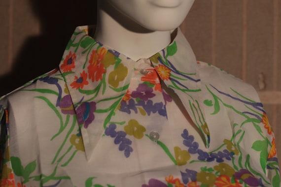 Vintage 1970s floral blouses